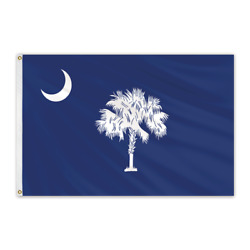 Global Flags Unlimited 200605 South Carolina Outdoor Nylon Flag 12'x18'