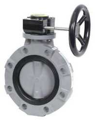 Hayward Byv11100a0ng000 Butterfly Valve,pvc,nitrile,10in,gear