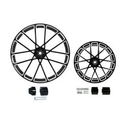 21/23/26/30x3.5and039and039 Front+18and039and039 Rear Wheel Rim Hub Fit For Harley Road King 08-21