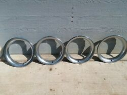Trim Rings 15and039and039 Rally 68-87 Chevy Gmc Oem Stainless Steel C10 K5 K10 C20 K20