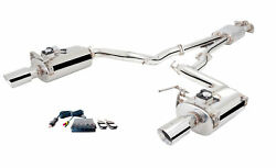 Xforce 2.5 Cat-back Exhaust For 2015+ Ford Mustang Convertible Gt / Ecoboost