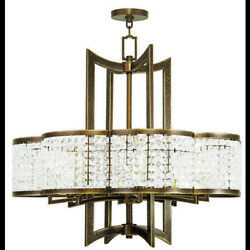 Livex Lighting 50578-64 Grammercy 8 Light Hand Painted Palacial