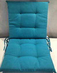 Improvements Indoor Outdoor Patio Chair Padded Cushions Square 18x19 Teal 2 Pcs