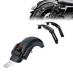 Rear Fender Led Smoked Lens + Support Fit For Harley Touring Street Glide 14-21
