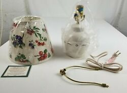 Longaberger Traditional Red Lamp With Fruit Shade Brand New