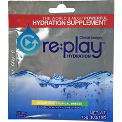 Hydration Health Products 31160 Replay Hydration Powder Tropical Breeze Pk500