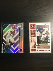Najee Harris Rookie Card Lot. Blue Status 6/99 And Red Chronicles Base 119/149.