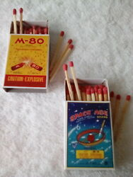 Firecracker Label M-80 And Space Age Firecracker Label 2 Match Books Labels Only
