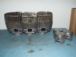 Kawasaki H2 750 Early Cylinders And Heads W/ Pistons And Rings 1972-73 Top End