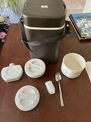 Vintage Zojirushi Lpe-20 10-2 Japanese Thermos Container Lunch Box /w Strap