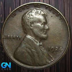 1924 D Lincoln Cent Wheat Penny -- Make Us An Offer K5902