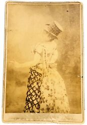 Actress Nellie Mchenry Buffalo Bill Cody Comedy 1800s Cabinet Card Photograph