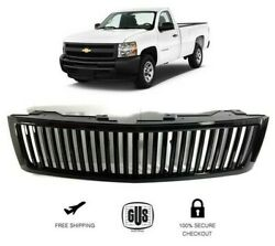 For Chevy Silverado 1500 2007 2013 Front Grille Vertical Billet Style Black