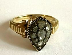 Antique Imperial Russian Faberge 14k 56 ПС Solid Gold Diamond Ring Author's 2