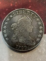 1799 1 United States Silver Bust Dollar, 6/22/21, Free Shipping