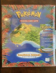 Pokemon Southern Islands Collection Binder Sealed - Includes 3 Booster Packs