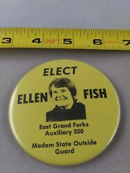 Vintage East Grand Forks 305 Eagles Madam State Guard Button Pinback Pin Qq42