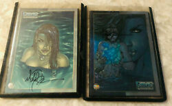2x Signed By Michael Turner Fathom Rainbow Chrome And Glow In Dark C6 And G6