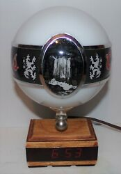 Vintage Coors 10 Lighted Globe And Led Clock Beer Sign Rare Waterfall 1980's