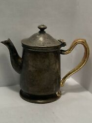 Vintage Personal Teapot Grand Silver Company Wear-brite 5 Inches Tall Patina