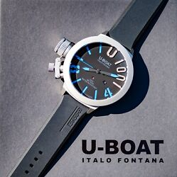 U-boat Men's Ub-2280-1 Limited Edition 55mm Black Dial Rubber Watch