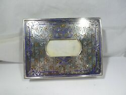 Austrian Sterling Silver And Enamel Box Sold As Is