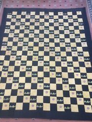 Crown Royal Black And Gold Bag Quilt Made From More Than 160 Bags