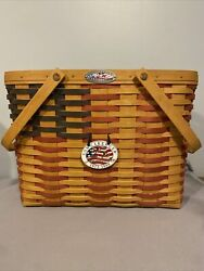 Longaberger Flag Basket Protector Tie On Collector Club Magazine Form