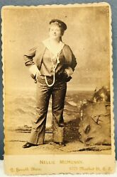 Authentic Nellie Mchenry Buffalo Bill Cody Comedy 1800s Cabinet Card Photograph