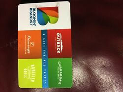 Gift Card Outback Steakhouse, Flemings, Bonefish Grill, And Carrabba's
