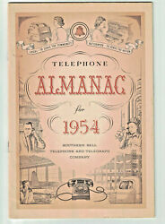 The Telephone Almanac For 1954 Southern Bell Telephone Company Pb 24pp