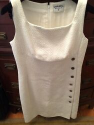 Jacquard Quilted Woven Sleeveless Cotton Dress 38/40fr