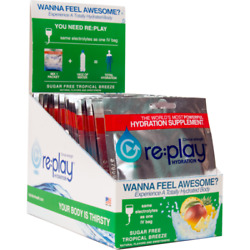 Hydration Health Products 31104 Replay Hydration Powder Tropical Breeze Pk450