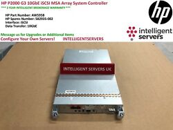 Hp P2000 G3 10gbe Iscsi Msa Array System Controller - Aw595b
