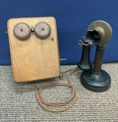 Kellogg Candle Stick Telephone Phone Ring Ringer Wall Box Antique 1901-1908