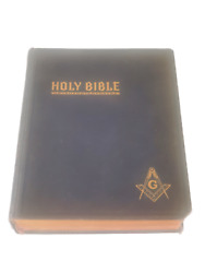 1949 Masonic Bible Red Letter Edition Illustrated Dictionary John Hertel Company