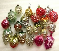 21 Vintage Ussr Glass Russian Christmas Ornaments Xmas Tree Decorations Grapes