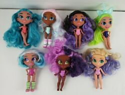 Hairdorables Lot Of 7 Dolls And Stickers - Bella Noah Veni And More