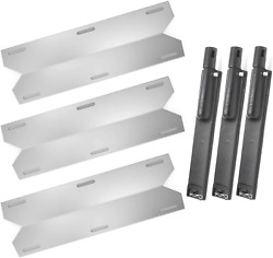 Gas Grill Stainless Steel Heat Plate Shield And Cast Iron Burner Repair Kit
