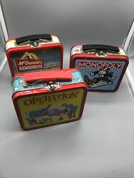 Set Of Three Vintage Mini Lunch Boxes