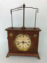 Jerome And Co. Horolovar Flying Pendulum Novelty Clock Germany Parts Or Fix
