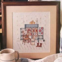 Preserved In Time, Cross Stitch Pattern, Antique Jelly Cabinet By Paula Vaughan