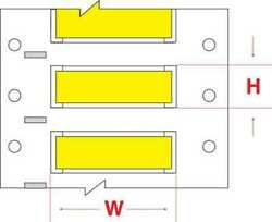 Brady Hx-1500-150-yl-j Write On Yellow Wire Marker Sleeves Permasleever