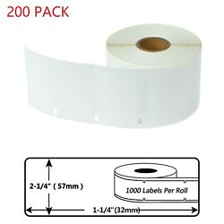 200 Roll Of 1000 Medium Multipurpose Labels 30334 For Dymo Lw 450 400 Twin Turbo