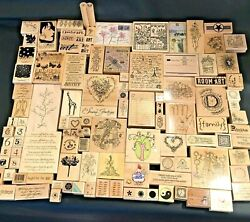 Lot Of 111 Rubber Stamps Stampinand039 Up Catslife Press Others Unused Lightly Used