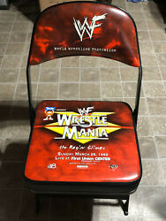 1999 Wwf Wwe Wrestlemania Xv 15 Ringside Collectible Event Chair Austin Vs Rock