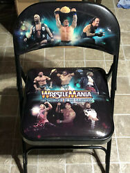 Wwe Wrestlemania Showcase Of The Immortals Collectible Chair Hbk Rock Austin