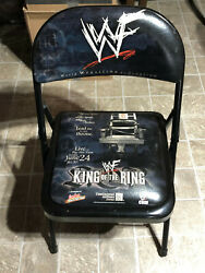 2001 Wwf Wwe King Of The Ring Collectible Event Chair Shane Vs Angle, Edge