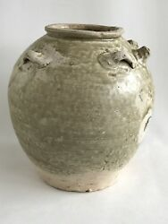 Chinese Tang Dynasty 唐代 Olive Green Celadon Guangdong Large Ewer 7th Century