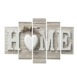 5Pc Concise Fashion Wall Paintings Home Letter Printed Photo Art Without Frame